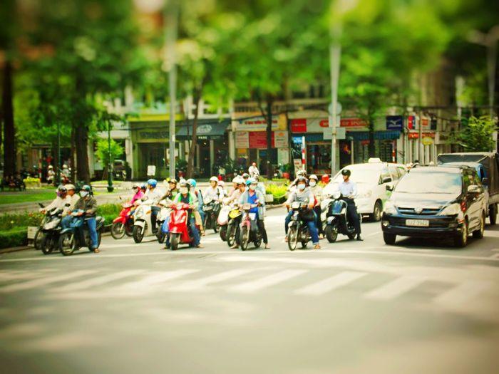 Tiltshift Vietnamese Asian Culture Hobbyist Motorcycles Street Photography