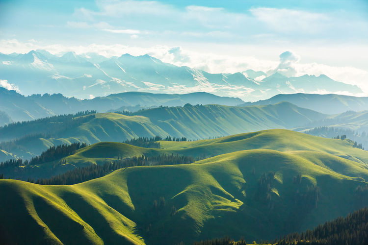 Beauty In Nature Day Landscape Mountain Mountain Range Nature Scenics Sky Tranquil Scene Tranquility XinJiang
