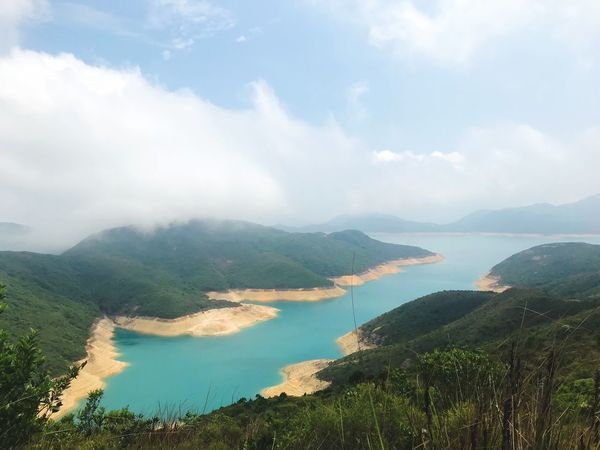 Maclehose trail Cloud - Sky Scenics - Nature Beauty In Nature Sky Water Mountain Tranquil Scene Nature Mountain Range Outdoors High Angle View Tree Environment Plant EyeEmNewHere Adventures In The City