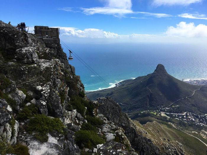 South Africa Capetown Tablemountain Nature Beauty In Nature Mountain Nature Tranquility Cloud - Sky Sky Adventure Scenics Ocean City