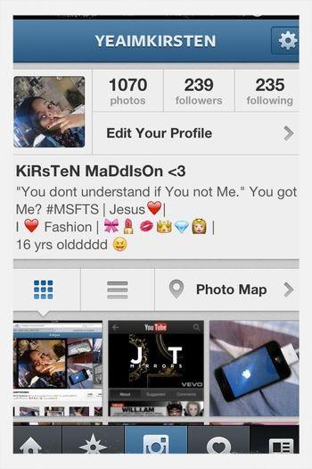 Follow me on Instagram @yeaimkirsten (: