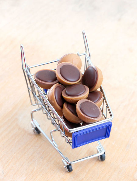 toffifee Chocolate Nuts Shopping Toffifee Wood Blue Close-up Creamy Day Food Indoors  No People Nougat Sweet Food
