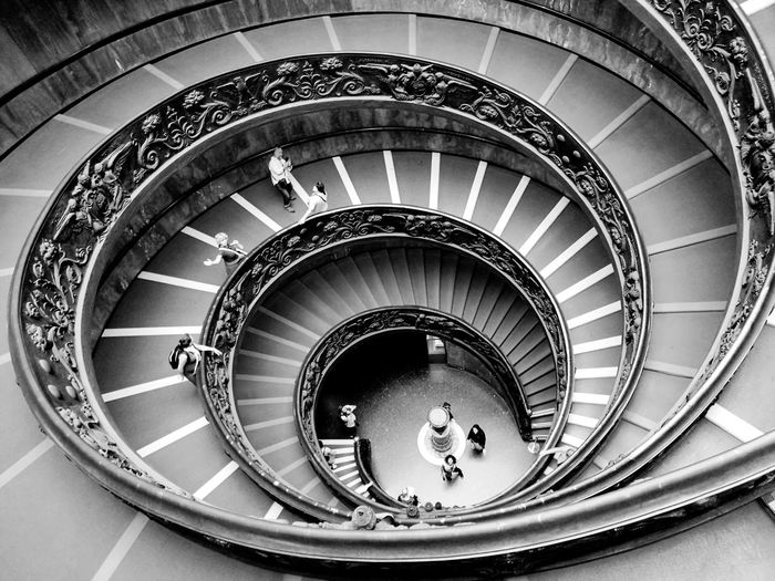 VaticanCity Photooftheday Photography Stairs & Shadows Stairs Photography Italianeography Vaticancity Photos Vatican Stair Blackandwhite Photography Shadows & Lights Spiralstaircase Spiral Stairs Neighborhood Map Spiral Staircase Architecture No People Travel Destinations Arch Symmetry Spiral Staircases The Architect - 2017 EyeEm Awards