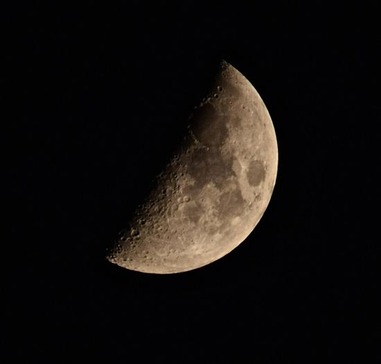 The phase of the moon, 18% Full First Quarter #moon 48% Full Astronomy Beauty In Nature Black Background Black Color Dark Discovery First Quarter First Quarter 48% Full Idyllic Low Angle View Majestic Moon Moon Surface Nature Night No People Planetary Moon Scenics Sky Space Space Exploration Tranquil Scene Tranquility
