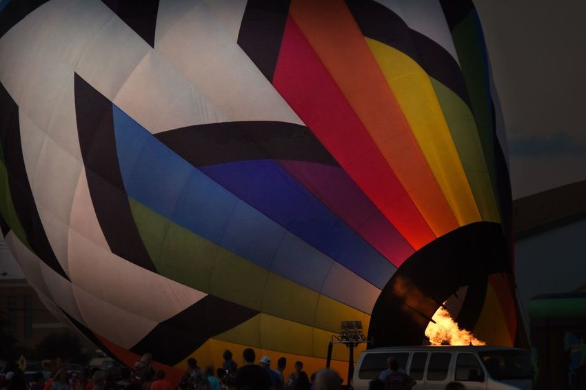Hot Air Balloon Multi Colored Flame Flying Travel Destinations Outdoors Ballooning Festival City Masterclass Adventure Flame Illuminated San Angelo Balloon Festival The Great Outdoors - 2017 EyeEm Awards Eyeemphotography Texas Photographer Air Vehicle Close-up Night Red Sport The Photojournalist - 2017 EyeEm Awards The Street Photographer - 2017 EyeEm Awards