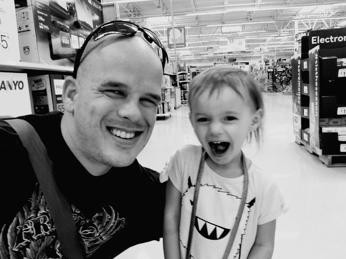 Daddy & Daughter Father And Daughter Father Fatherhood Moments Shopping ♡ Store Walmart Daughter Quality Time Smile EyeEm Ready   Archival Childhood Two People Indoors  Child Togetherness Father Happiness Bonding Smiling Love Yourself