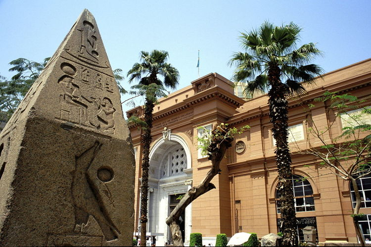 Architecture Bas Relief Building Exterior Built Structure Cairo Museum City Clear Sky Day Egyptian Museum Façade History Low Angle View Museum Museum Of Cairo Museum Of Egyptian Antiquities No People Obelisk Outdoors Palmtrees Pharaonic Pharaonic Antiques Pharaonic Antiquities Pharaonic Art Sky Travel Destinations