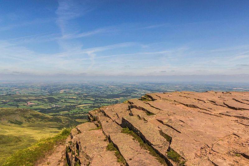View From Corn Du Corn Du Brecon Beacons Breconbeacons Wales Landscape Welsh Mountains