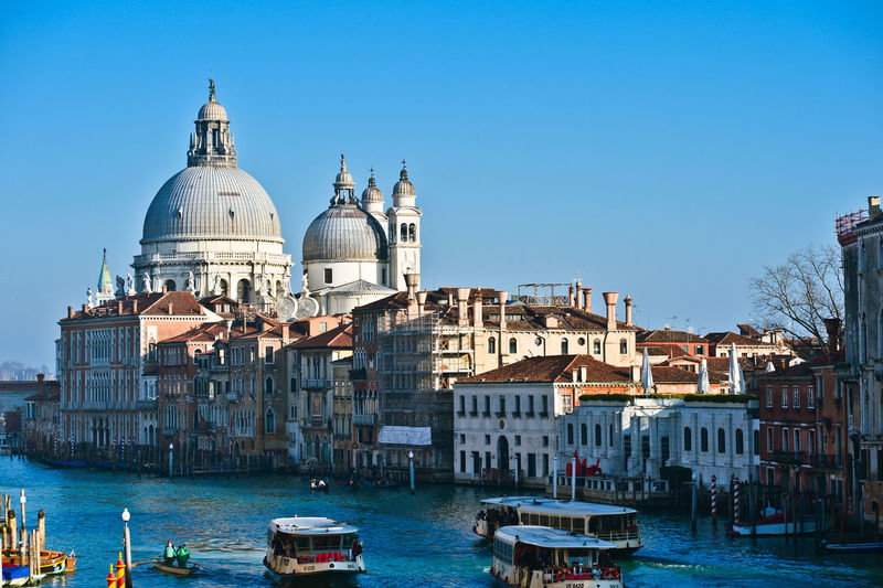 Italy, Venice, Elevated View Of City's Canal