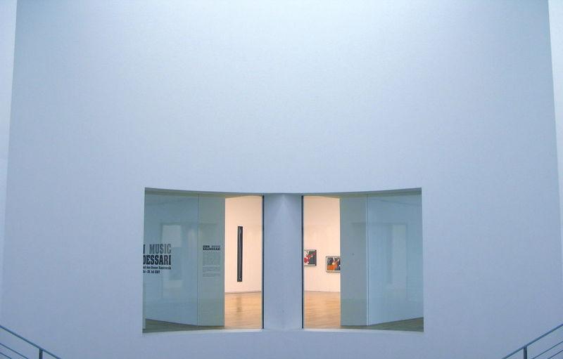 Art Museum Art Museum, Bonn Bonn Art Museum Centered Indoors  Pale Blue Pale Blue Color Windows