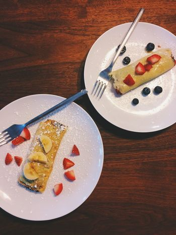 Homemade Food Crêpes Cooking Two Of A Kind Yummy A Bird's Eye View