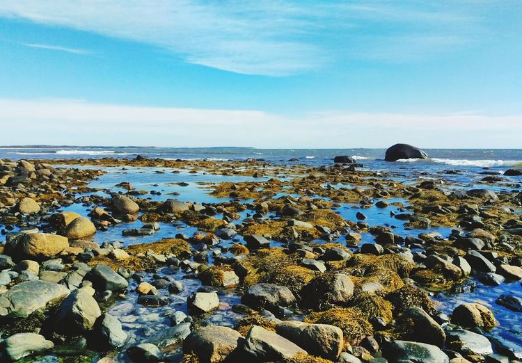 Landscape Outdoors Ocean Water Rocks And Water Rock Beach Nature No People Horizon Over Water