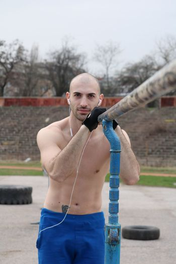 Young athlete outside Young Men Athlete Sport Sportsman Sports Photography Exercise Man Boy Topless, Strong