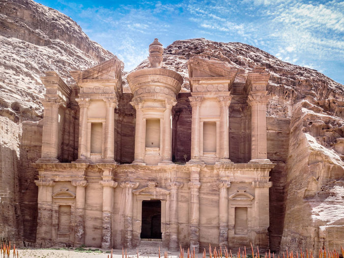 Petra Petra, Jordan Ancient Ancient Civilization Archaeology Architectural Column Architecture Building Exterior Built Structure Day History Nature No People Old Ruin Outdoors Sky Tourism Travel Travel Destinations