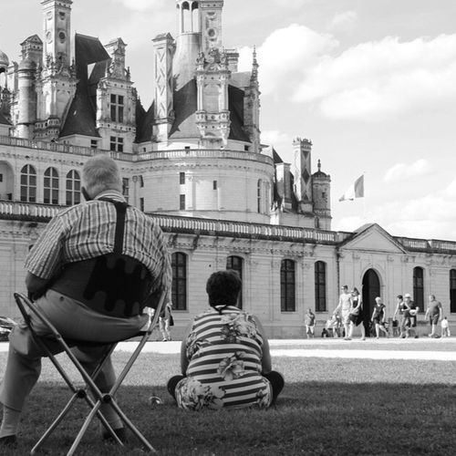 Blois Match Black And White Couple Castle Tourists Two Is Better Than One