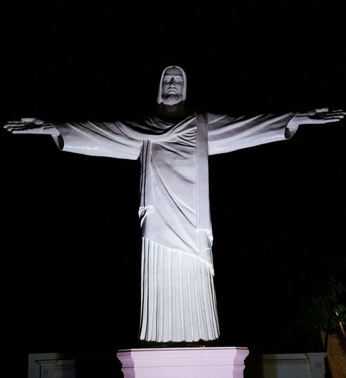 Eyeem Photography Jesus Jesus Christ Christianity Christ The Redeemer Christian Jesus Saves Night Photography Cross Shaped Check This Out Cross Shape Samsung Note 5 Duos EyeEm Gallery EyeEm Statue In The City Statue Colection Statues/sculptures