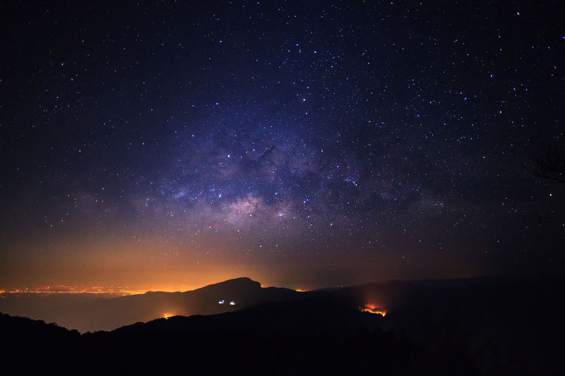 Night Star - Space Sky Astronomy Beauty In Nature Scenics - Nature Space No People Mountain Star Nature Tranquility Star Field Tranquil Scene Galaxy Idyllic Environment Outdoors Infinity Illuminated Milky Way