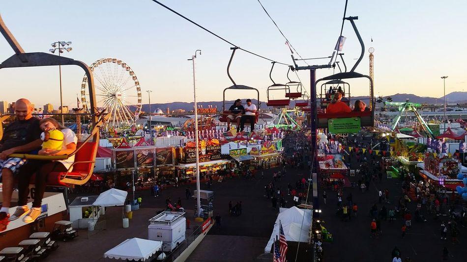 Phoenix AriZona♡ Phoenix, AZ State Fair Sunset Going On Rides Carnival Arizona