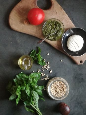 Healthy Eating High Angle View Food And Drink Food Indoors  Ingredient Directly Above FreshnessNo People Healthy Lifestyle Quality Day Close-up pesto Pesto Alla Genovese Pesto Preparation Pestolover Pesto Genovese Sauce Pesto