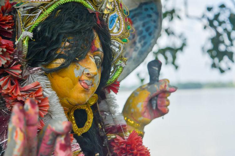 Close-up of religious statue