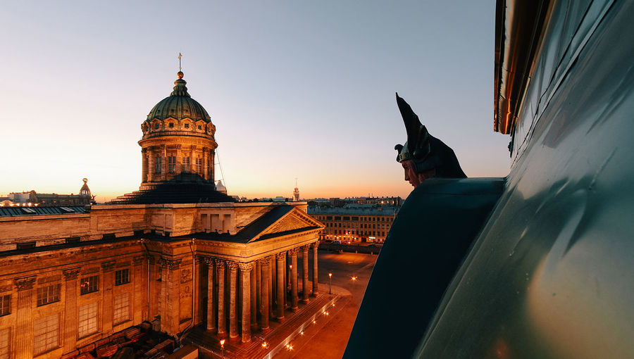 Kazan Cathedral Against Sky During Sunset