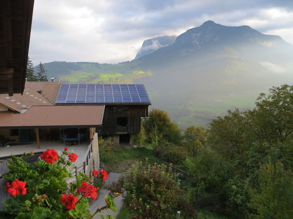 The Innovator Technology Solar Energy Solar Roof Rooftops Dolomites, Italy Mountains Green Outdoors Idyllic Tranquility Tranquil Scene Technology I Can't Live Without Ecology House Town Traveling Italy Pannel Solar Panels Nature Travel Destinations Original Experiences