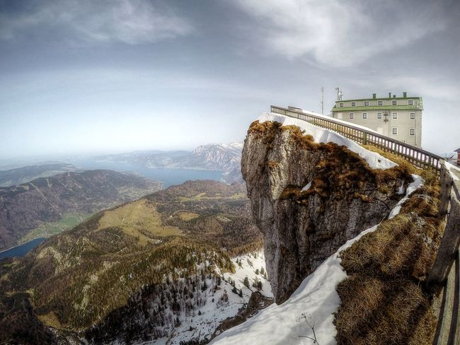 Beauty In Nature Bridge Cloud Cloud - Sky Day Majestic Mountain Mountain Range Nature No People Non-urban Scene Outdoors Remote Scenics Schafberg Schafbergbahn Schafbergspitze Sky Tranquil Scene Tranquility