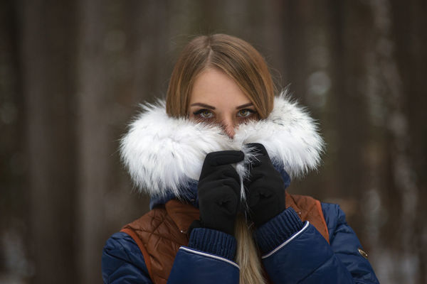 One Person Portrait Winter Only Women Beauty One Young Woman Only