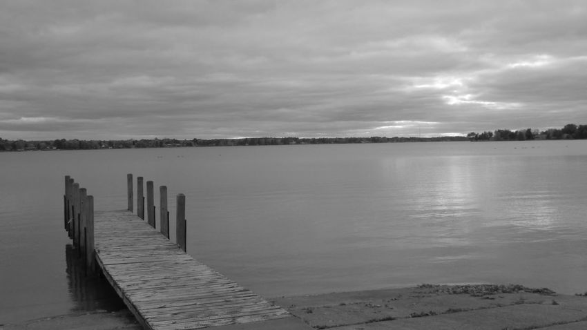 Around The Lake Back In Time Black And White Photography At The Dock Cool_capture_ So Still Quietness Lake Cadillac Pure Michigan