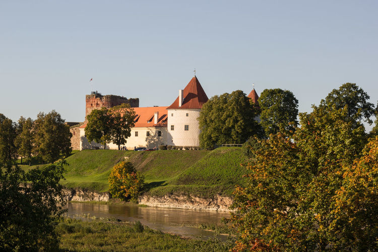Nature Water No People Day Sky Clear Sky Landscape Outdoors Sunny Day River View River Latvija Latvia Pils Bauskas Pils Bauska Castle On The Hill Castle Walls Castle Landscape_photography Latvijasskati