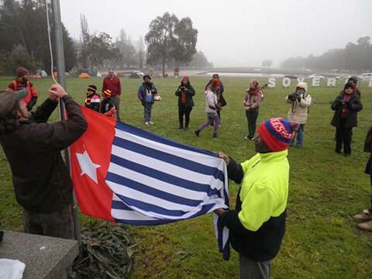 Patriotism Flag Tree Cultures Outdoors Large Group Of People Papua Free Of Indonesia Colonial West Papua People Celebration West Papua Want To Free Of Indonesia Colonial. Patriotism West Papua Politic Of Freedom West Papua Flag