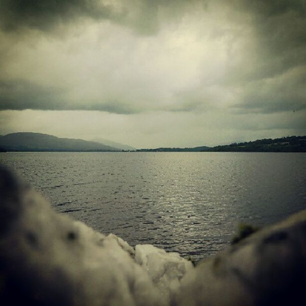 Scotland Loch  Lomond Cold Wet Water Stone Scottish View Different Perspective TheGreatOutdoors Nature Brooding Dark Outlook, Prospect, Panorama, Vista, Scene, Aspect, Perspective, Spectacle, Sight; Scenery, Landscape