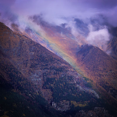 Mountain View Piedmont Italy Rainbow Colors Beauty In Nature Cloud - Sky Landscape Refractedlight Scenic View