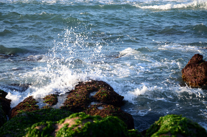 Beauty In Nature Day Force Motion Nature No People Outdoors Power In Nature Rock - Object Scenics Sea Water Wave 老梅石槽