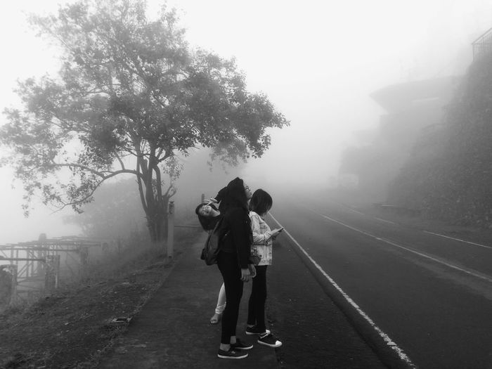 Fog Tree Plant Two People Full Length Nature People Women Road Togetherness Eyeem Philippines Mobilephotography
