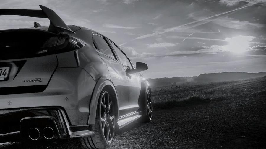 Honda Civic Type R Ralley Race Racecar Racing Adventure Car Sky 4x4 Tire Tire Track Wheel Thunderstorm Off-road Vehicle
