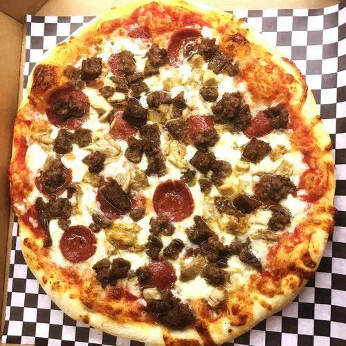 Meat Lover Pizza 🍕 Halalpizza Halal Pizza Dallas Plano