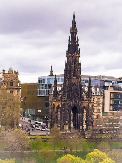 Architecture Built Structure Building Exterior Cloud - Sky Day Sky History Outdoors Travel Destinations Place Of Worship No People City Eye Em Scotland Eyeem Scotland  Scott Monument Edinburgh Historic Scotland Historical Building Historical Monuments Architecture Travel The Architect - 2017 EyeEm Awards