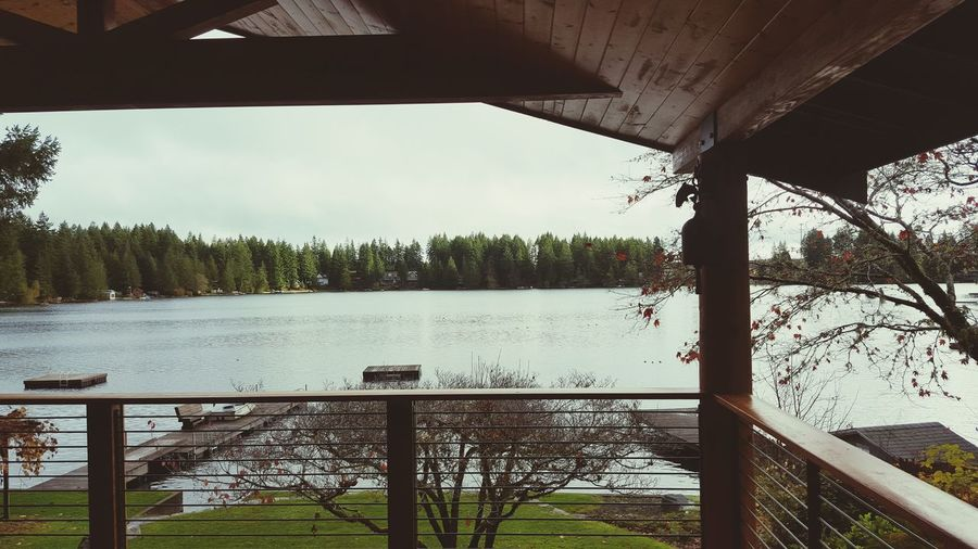 A break in the rain. Pacific Northwest  Viewfrommyporch PNW Lake Lakelife Sky Lake Masoncounty