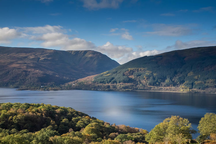 Walking up Ben Lomond. My first Munro. Autumn Ben Lomond Hill Walking Mountains Munro Path Scotland Sky And Clouds Water
