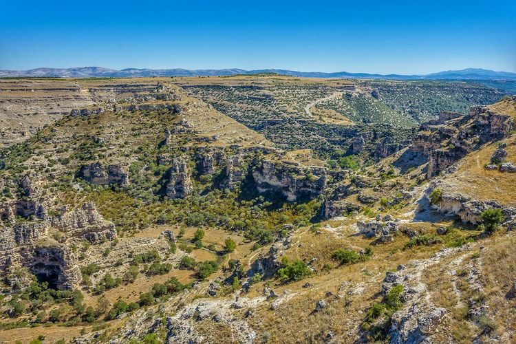 ulubey canyon River Nature High Blue Mountain Sky Landscape Geology Mountain Range Dramatic Landscape Physical Geography Natural Landmark Canyon Plateau Sandstone Rock Formation