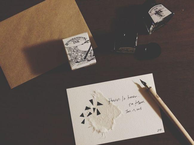 2015年1月…また今年も、大切なひとたちのおたんじょうびをお祝いできる。幸せ✴︎* Letter Birthday Birthdaycard Handmade Pen お誕生日 お祝い ペン Ink