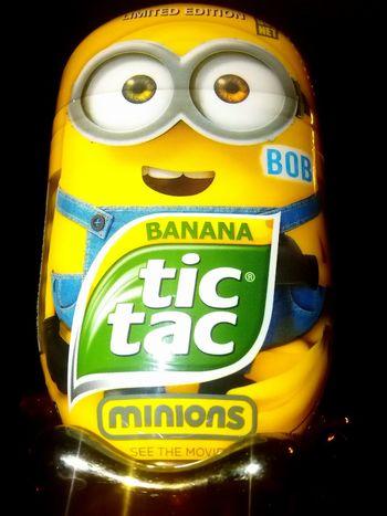 Minions ™ Tic Tac ® Minion Bob Banana Tic Tac Minions Tic Tac Minion  Banana Flavour Minions Characters Despicable Me Minions_mania Minions ♥♥ Powered By Bananas Minions 🍌🍌🍌🍌🍌 Minionsworld