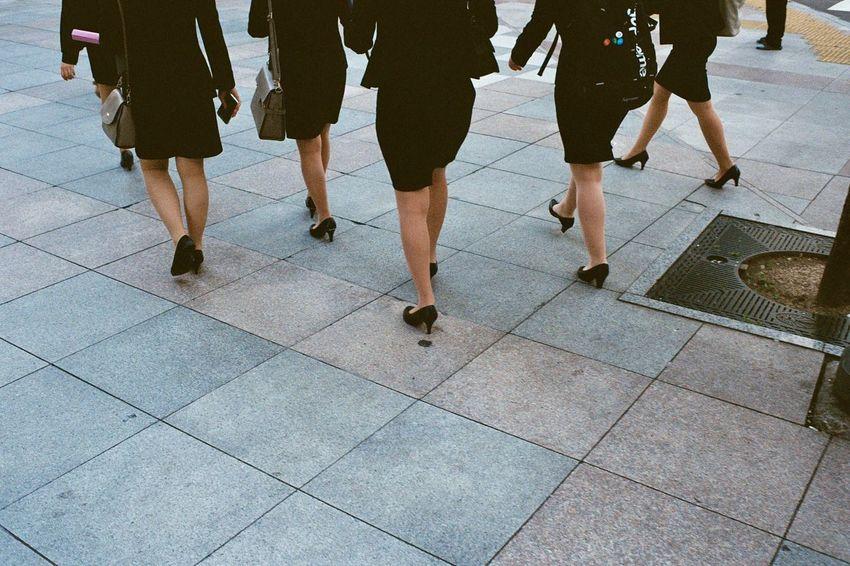 Street Photography Uniform Walking Businesswoman Kodak Film Photography Sidewalk Filmisnotdead The Week On EyeEm Editor's Picks