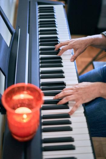 Piano play indoor