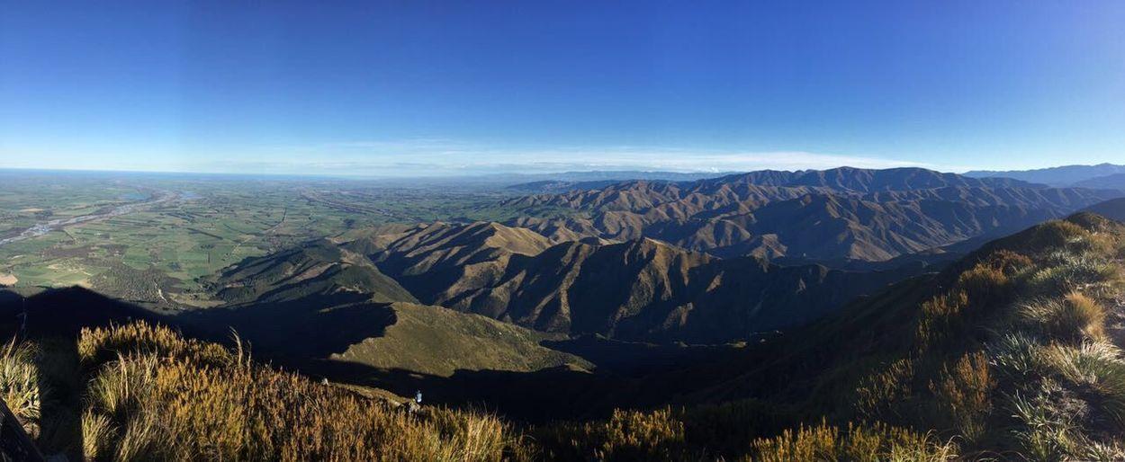 New Zealand Landscape Hiking Tramping Little Mt. Peel Mountain Tranquility Idyllic