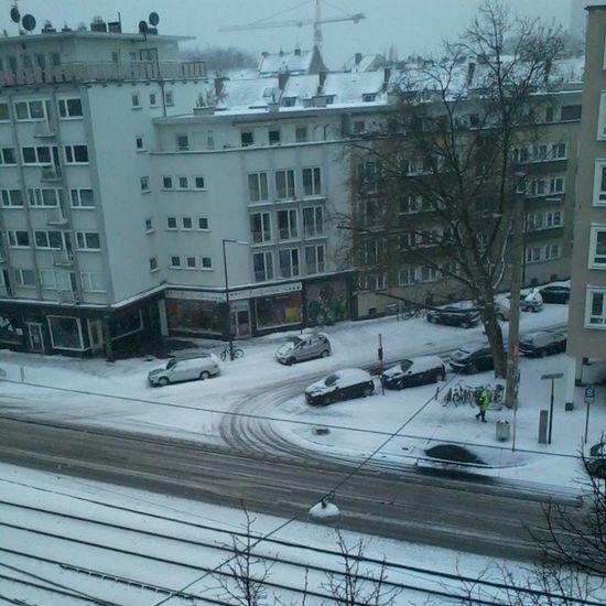 Guten Morgen, Köln! Winterland Barbarossaplatz Köln Deutschland Snow