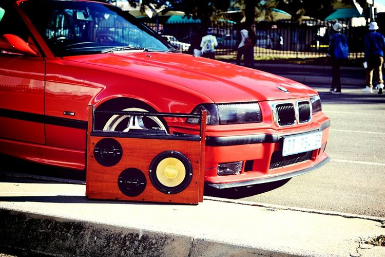 Bumping bass with my homies Boombox Bmw