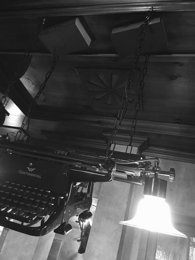 Monochrome Photography typewriter lamp scriptorium