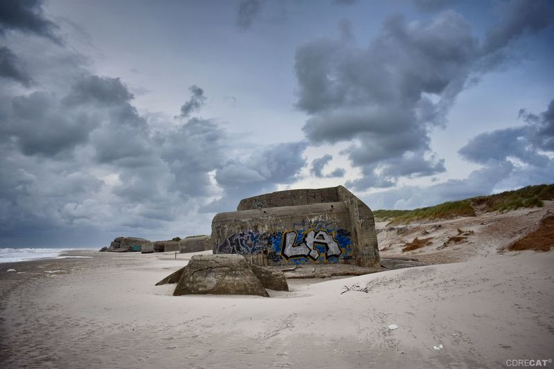 Landscape Denmark Denmark 🇩🇰 Landscape_Collection EyeEm Nature Lover EyeEm Masterclass Beach Photography Northsea Atlantic Wall Bunker Ww2 WWII History Beach Sky Architecture Landscape